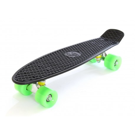 Skateboard Black White Green