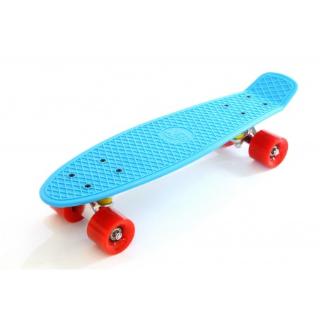 Skateboard Blue White Red